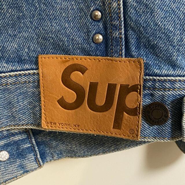 Supreme(シュプリーム)の『値下げ可』Supreme Denim Trucker Jacket S メンズのジャケット/アウター(Gジャン/デニムジャケット)の商品写真