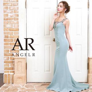 エンジェルアール(AngelR)のエンジェルアール アンティークゴールドビジュータイトロングドレス グリーン S(ロングドレス)