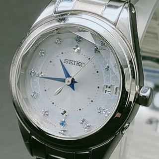 セイコー(SEIKO)のセイコールキア ソーラー電波 SWFH081 スワロフスキー カットガラス (腕時計)