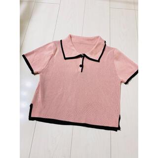 韓国 トップス ポロシャツ 半袖
