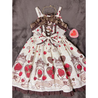 BABY,THE STARS SHINE BRIGHT - Strawberry Loves Chocolate柄II型JSK