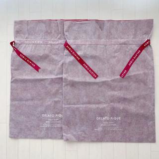 ジェラートピケ(gelato pique)の新品 美品 gelatopique ジェラピケ ジェラートピケ 巾着 ギフト 袋(ショップ袋)