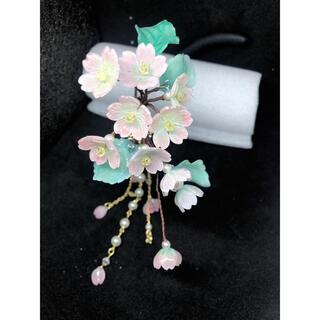 ハンドメイド 桜かんざし(ヘアアクセサリー)