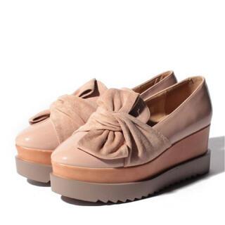 ナイスクラップ(NICE CLAUP)のナイスクラップ リボンエナメルシューズ(ローファー/革靴)