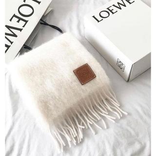 LOEWE - 新品 ロエベ モヘアマフラー ホワイト