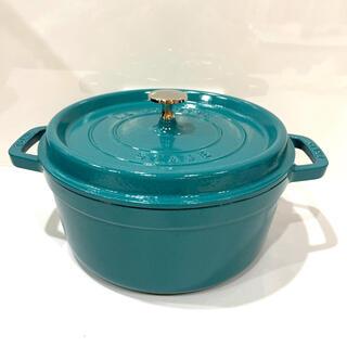 ストウブ(STAUB)の売り切り価格 ストウブ ミント   24cm  ココットロンド   鍋(鍋/フライパン)