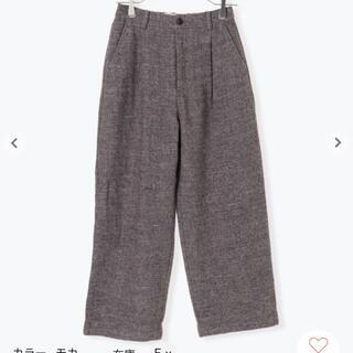 TSUHARU by Samansa Mos2 イニシャル刺繍麻ウールパンツ(カジュアルパンツ)