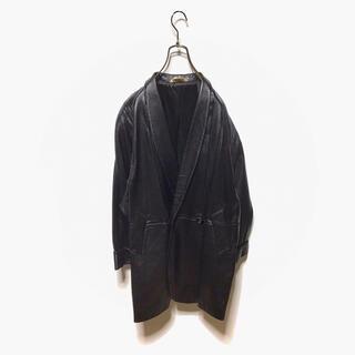 ART VINTAGE - 古着 羊革 vintage レザージャケット ショールカラー イタリア製