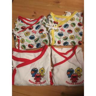 セサミストリート(SESAME STREET)のAsk様専用商品 セサミストリート新生児肌着4枚セット(肌着/下着)
