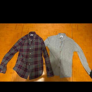 オールドネイビー(Old Navy)のチェックシャツ 長袖シャツ S XS オールドネイビー ユニクロ H&M gu(シャツ)