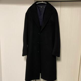 カシミヤブレンドオーバーサイズチェスターコート UNIQLO +j ブラック