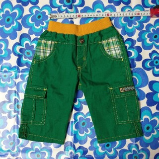 キッズ 半ズボン グリーン 110cm(パンツ/スパッツ)