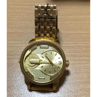 ディーゼル(DIESEL)の極美品 DIESEL ディーゼル MINI DADDY オールゴールド 稼働中(腕時計(アナログ))