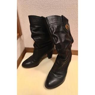 マークバイマークジェイコブス(MARC BY MARC JACOBS)のマークバイマークジェイコブス黒ミドルブーツ(ブーツ)