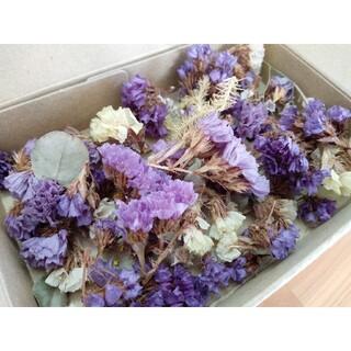 新品 ミニドライフラワー 花 小花 ドライフラワー 紫系 可愛い 手作り(ドライフラワー)