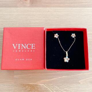ビンス(Vince)のVince(ビンス) プルメリア ピアス&ネックレス(ネックレス)