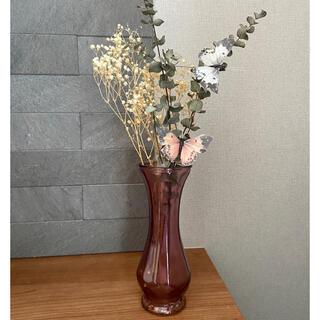 Francfranc - 新品 ドライフラワー フラワーベース 花瓶 かすみ草 ユーカリ アンティーク風