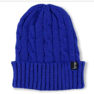 ブランシェス(Branshes)のブランシェス ニット帽 ニットキャップ S ロイヤルブルー(帽子)