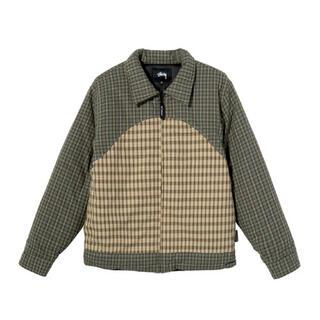 ステューシー(STUSSY)のSTUSSY Plaid Fill Jacket Mサイズ(ダウンジャケット)