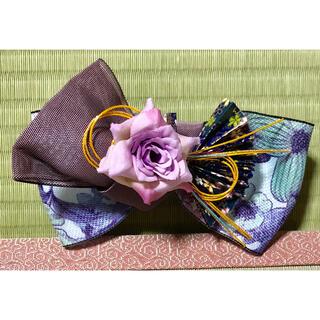 紫花の髪飾り〜畳縁の髪飾り〜(ヘアアクセサリー)