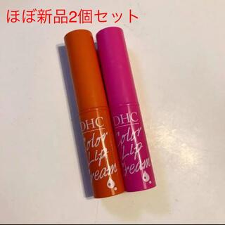 DHC - DHC 濃密うるみカラーリップクリーム  アプリコット&ピンク 2個セット