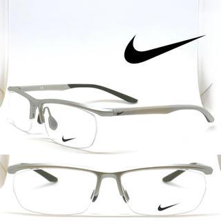 ナイキ(NIKE)のNIKE ナイキ メガネ フレーム 7928 080 ライトグレー/グレー(サングラス/メガネ)