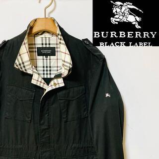 BURBERRY BLACK LABEL - 希少!BURBERRY ブラックレーベル ノバチェック 袖ホースマークM-65
