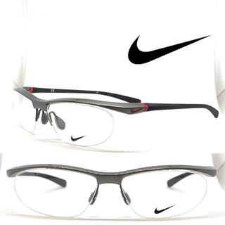 ナイキ(NIKE)のNIKE ナイキ メガネ フレーム 7070/2 035 グレーメタリック(サングラス/メガネ)