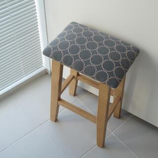 ミナペルホネン(mina perhonen)のミナペルホネン   タンバリン スツール 椅子 ハイスツール ハンドメイド(スツール)