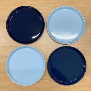 ハサミ(HASAMI)の波佐見焼・食器・Φ220プレート(4枚セット・ネイビー/ブルー)(食器)