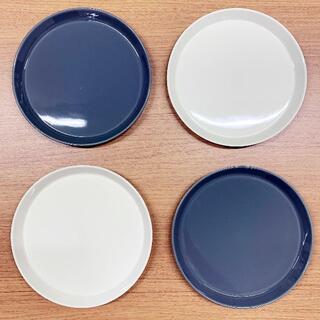 ハサミ(HASAMI)の波佐見焼・食器・Φ220プレート(4枚セット・ホワイト/グレー)(食器)
