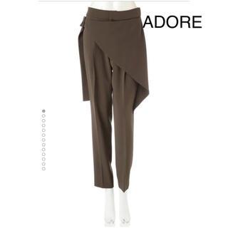 アドーア(ADORE)のアドーア サンドジョーゼット2ラップ付きテーパードパンツ(カジュアルパンツ)