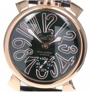 ガガミラノ(GaGa MILANO)のガガミラノ マヌアーレ48 スモセコ 5011.04 手巻き メンズ 【中古】(腕時計(アナログ))