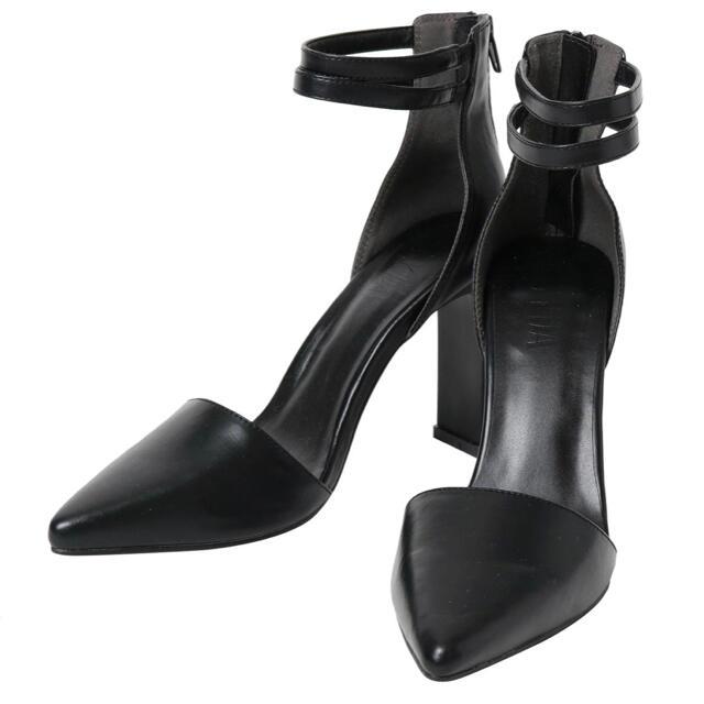 GYDA(ジェイダ)のGYDA アンクルベルトセットバックヒールパンプス レディースの靴/シューズ(ハイヒール/パンプス)の商品写真