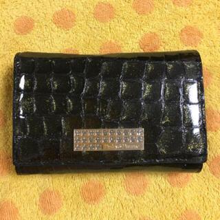 ピンキーアンドダイアン(Pinky&Dianne)のピンキー&ダイアンPinky&Dianne牛革折財布金彩黒 (財布)