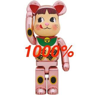 BE@RBRICK 招き猫 ペコちゃん 桃金メッキ 1000% ベアブリック(その他)