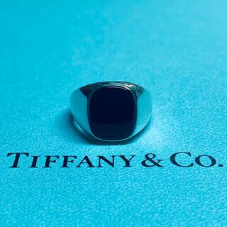 ティファニー(Tiffany & Co.)のVINTAGE TIFFANY ティファニー オニキス シグネット リング(リング(指輪))