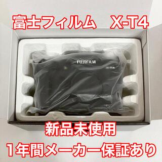 富士フイルム - 新品保証あり FUJIFILM X-T4 ボディ 富士フイルム ブラック