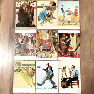 ノーマンロックウェル ポストカード 9枚(写真/ポストカード)