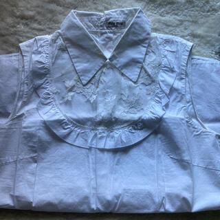 ミュウミュウ(miumiu)のミュウミュウ レース シャツ ホワイト(シャツ/ブラウス(半袖/袖なし))
