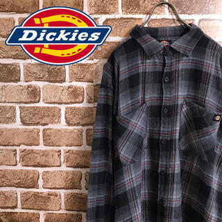 ディッキーズ(Dickies)の90's ディッキーズ  ワンポイントロゴ ビッグサイズ チェックシャツ(シャツ)
