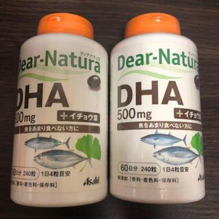 アサヒ(アサヒ)のディアナチュラ DHA 500mg + イチョウ葉 60日分 × 2(ダイエット食品)