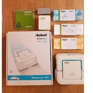 アイロボット(iRobot)のIROBOT ブラーバジェット 240+別購入洗濯可能交換用パット3枚付(掃除機)