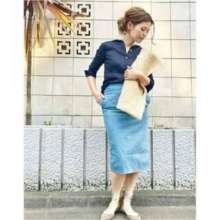 マディソンブルー(MADISONBLUE)の■新品タグ付■Madison blue  DENIM LONG SKIRT(ひざ丈スカート)