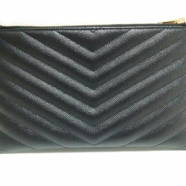 Saint Laurent(サンローラン)のサンローランパリ ポーチ美品  504922 黒 レディースのファッション小物(ポーチ)の商品写真