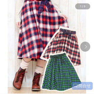 チチカカ(titicaca)の美品 チチカカ titicaca スカート 赤チェック フレアスカート(スカート)