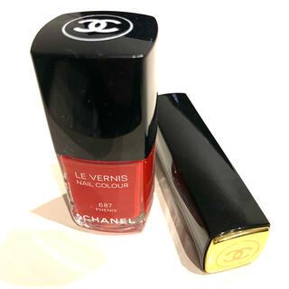 シャネル(CHANEL)のシャネル ヴェルニ 687 口紅 337 美品 CHANEL マニキュア リップ(口紅)