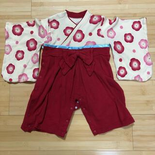 ベルメゾン(ベルメゾン)のベルメゾン 袴 ロンパース 女の子 80cm(和服/着物)