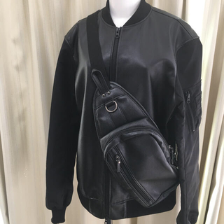 プラステ(PLST)の定価15000円 PLST レザー フェイク ジャケット ブルゾン バッグ(レザージャケット)