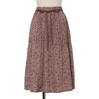 フィント(F i.n.t)のFi.n.t リボンレオパード柄プリーツスカート(ひざ丈スカート)